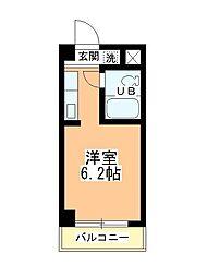 田町第二マンションB棟[205号室]の間取り