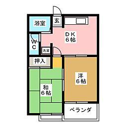 シャルム杉[2階]の間取り