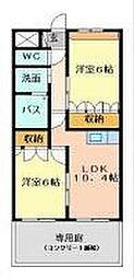 福岡県遠賀郡遠賀町大字虫生津の賃貸アパートの間取り