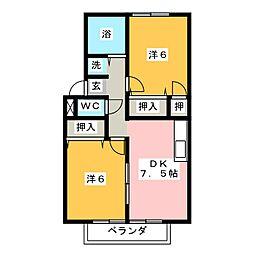 アーバンライフサクライA[1階]の間取り