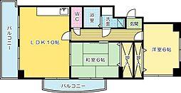 クラブハウス熊本[603号室]の間取り