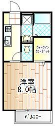 東京都町田市忠生3の賃貸アパートの間取り