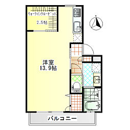 ジ・アパートメント荻窪II[102号室]の間取り