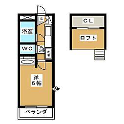 桜ノ坪ハイツ[1階]の間取り