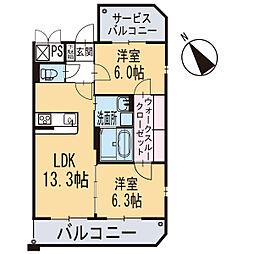 新築エトワール[301号室]の間取り