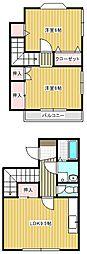 [タウンハウス] 茨城県取手市新取手2丁目 の賃貸【/】の間取り