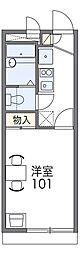 JR阪和線 和泉府中駅 徒歩14分の賃貸アパート 1階1Kの間取り