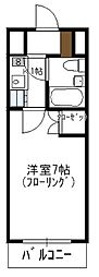 瀬川ビル[406号室]の間取り
