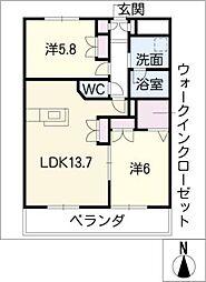 メゾン上名古屋[3階]の間取り