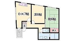 坪井元町ビル[301号室]の間取り