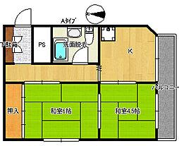 平光マンション[4階]の間取り