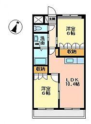 アシューレ[1階]の間取り