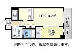 アドバンス名古屋モクシー 13階1LDKの間取り
