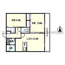 レジデンス早稲田 206[206号室]の間取り
