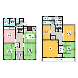 [一戸建] 愛知県名古屋市天白区福池2丁目 の賃貸【/】の間取り