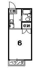 ハイツ紫明[101号室]の間取り