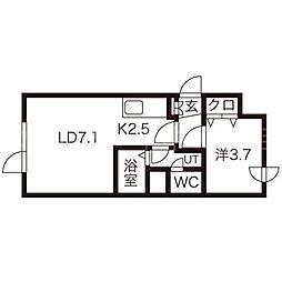エスパス5・5[1階]の間取り