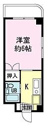 ヤマユ森マンション[0206号室]の間取り