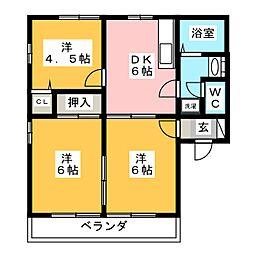 K-TOWN B[2階]の間取り