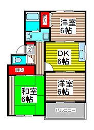 サンシャイン・ヒル[2階]の間取り