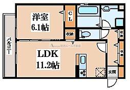 (仮称)D-room楠根[2階]の間取り