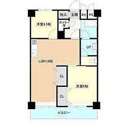 北海道札幌市豊平区平岸六条13丁目の賃貸マンションの間取り