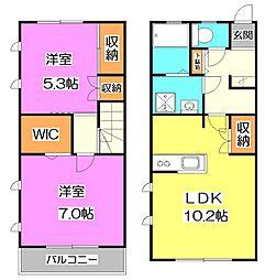 [テラスハウス] 東京都練馬区高野台3丁目 の賃貸【/】の間取り