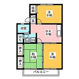 セジュールSATO[2階]の間取り