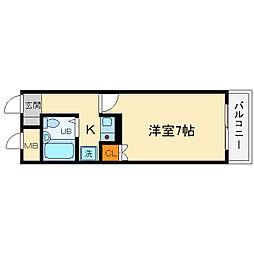 大阪府箕面市小野原西3丁目の賃貸アパートの間取り
