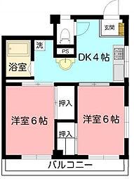 Kコーポ[3階]の間取り
