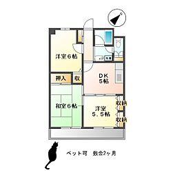 東京都武蔵野市関前2丁目の賃貸マンションの間取り
