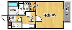 HAL仁川[102号室]の間取り