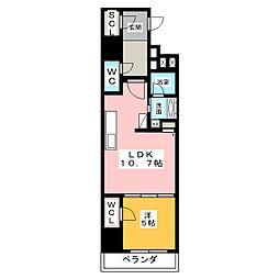ダイワシティー大須[2階]の間取り