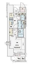 神戸高速東西線 西元町駅 徒歩3分の賃貸マンション 14階1Kの間取り