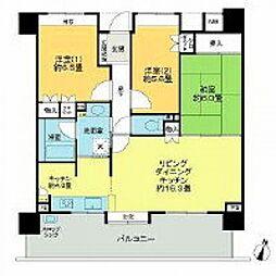 アーバンビュー渚ガーデン・タワーヴィレッジ1番館[5階]の間取り