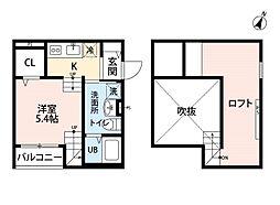 サンク エトワール ヨシヅカ[2階]の間取り