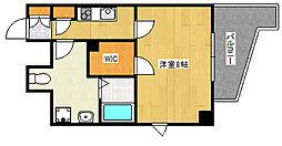 JR東海道・山陽本線 灘駅 徒歩2分の賃貸マンション 4階1Kの間取り