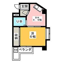 秀美寮[3階]の間取り