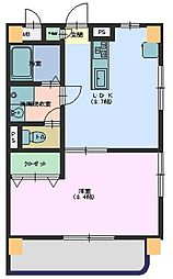 広島県東広島市西条中央1の賃貸マンションの間取り