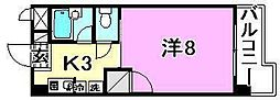 美沢寿ハイツ[402号室]の間取り