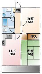 カトウマンション[3階]の間取り