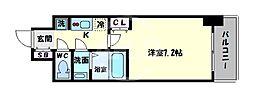 サムティ阿倍野昭和町 4階1Kの間取り