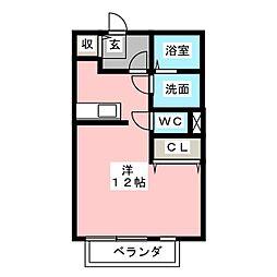 サンフォンテ B[1階]の間取り