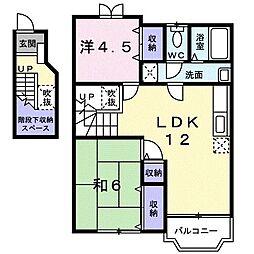 GRANDEUR山崎B[202号室]の間取り