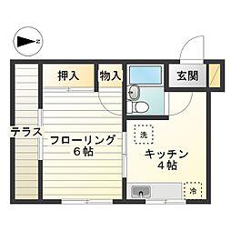 h346[1-B号室]の間取り
