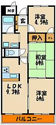 ユタカ第2ビル[9階]の間取り
