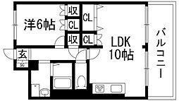 兵庫県宝塚市湯本町の賃貸マンションの間取り