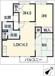 ワイドシャロー[1階]の間取り