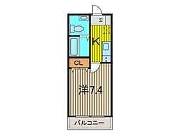 AZEST西川口II[8階]の間取り