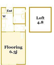 フルール横濱[2階]の間取り